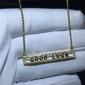 Choucong Good Luck Halskette für Frauen Braut 5A Zirkon Cz Real 925 Sterling Silber Hochzeit Anhänger mit Halskette Schmuck