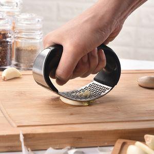 Пресс для чеснока с отжимом для чеснока Набор для измельчения имбиря из нержавеющей стали с эргономичной ручкой и посудомоечной машиной НОВЫЙ ДИЗАЙН 2019 (1 шт)