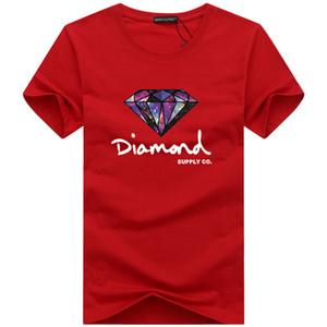 Мода футболка с бриллиантом мужчины женщины одеть 2019 Повседневная футболка с коротким рукавом мужчины Марка дизайнер Летние футболки