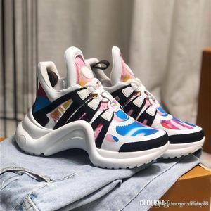 Mens designers runner shoes louie vuitons Archlight Monogram Sneakers fashion men women Daddy shoes platform 19sslouievuitto