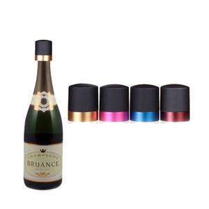 Conservazione fresca Wine Stopper silicone Champagne bottiglia Tappi Fit Bar Vini Strumento Rosso Blu del nastro di colore dell'oro di 4 8SW E1