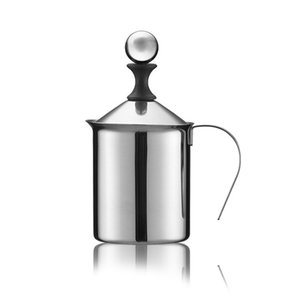 400ml cappuccino Japanese double stainless steel hand foaming machine Milking bubbler coffee appliance