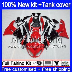 Body + Tank для KAWASAKI ZX636 ZX6R 2009 2010 2011 2012 206MY.0 ZX 636 600cc 6 R ZX636 ZX600 ZX 6R ZX6R 09 10 11 12 Обтекатели завод красный
