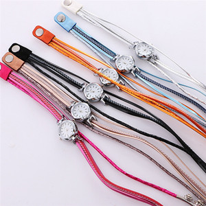 HOT SALE 6 Colors Twine Crystal Bracelet Watches Analog Quartz Wrist Watches for Women Daily Accessories Christmas Gifts