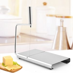 1pcs Wire Cutting Cheese Slicer Cutter Kitchen Stainless Steel Board Butter Cutter Cheese Slice Cheese Cutting Knife