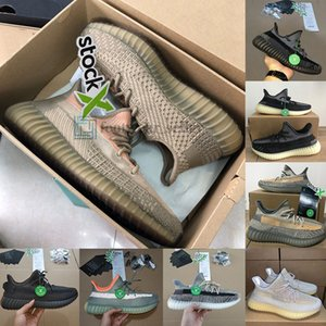 Con la scatola Oreo Israfil Cinder salvia del deserto Asriel Lino riflettente Kanye West Mens scarpe da corsa Scarpe da ginnastica di sport scarpe da tennis Big Size 13