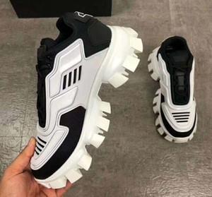 Cloudbust de Thunder Knit Chaussures de sport pour hommes de luxe de chaussures de sport mens classiques Souliers simples de tissu en caoutchouc Formateurs extérieur B111