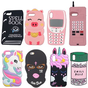 Para iPhone 6 6S Além disso, caso da tampa animal dos desenhos animados 3D Quicksand bonito Bling Glitter borracha de silicone suave design para miúdos Meninas