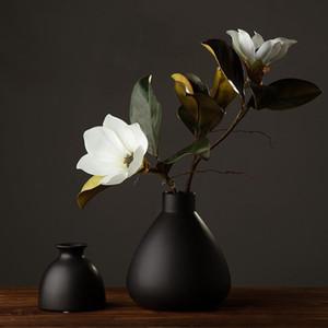 Flores Artificiales Decorativas de Alto Grado 1 Pieza Magnolia Magnífica Súper Hermosa Home Coffee Shop Decoración Pantalla Flores de Seda