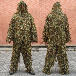 Снайпер Спецназ маскировочный костюм Ghilly Yowie Стяжка Ткань Пейнтбол Combat Tactical Digital Woodland Hoodie