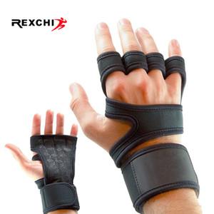 Gym Fitness Handschuhe Hand Palm Protector mit Handgelenk-Verpackungs-Unterstützung Crossfit Workout Bodybuilding Power Weight Lifting Glove