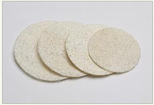 Redondo natural de lufa Pad 5,5 cm / 6 cm / 7 cm / 8 cm de maquillaje Quitar Exfoliante y la piel muerta Ducha lufa