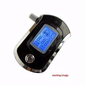 Pantalla AT6000 Mini Policía digital LCD aliento de alcohol probador del alcohol alcoholímetro AT6000 Bafometro Alcoholimetror con la caja al por menor