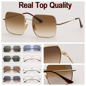 Gafas de Sol 2019 nueva llegada modelo retro Cuadratura Sol Gafas de sol de las mujeres con la caja de cuero marrón de alta calidad y paquetes al por menor