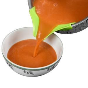 Multifunzione silicone di categoria alimentare Slip On Beccuccio clip di sicurezza del gel di silice Imbuto singolo Versare Beccucci per bocce Utensili da cucina BH1951 CY