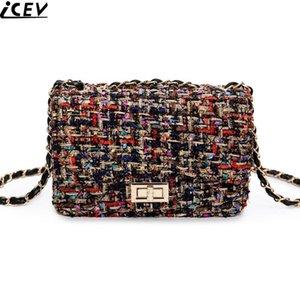 Moda spalla della borsa di panno di tela di Crossbody Borse Vintage femminile ricamo Messenger Bag catena Strap Flap Dollaro prezzi