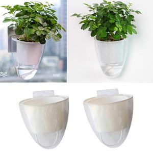 2 adet beyaz Kendinden Sulama Çiçek Konteyner, Trackless Çıkartma ile Planter Asma - M