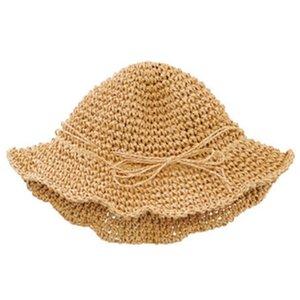 Handmade Parent-Child Straw Hat Children'S Travel Seaside Sun Protection Sun Hat Butterfly Fisherman Hat Baby Sunhat Summer