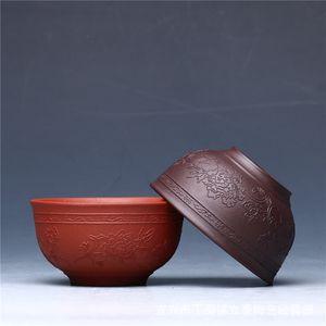 Modelo púrpura de la arcilla Peony taza de té Tieguanyin té de Puer Pequeño Tazón Vaso Copa Teaware Decor Master Cup