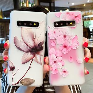 3d Relief Floral Phone Case For Samsung Galaxy S10 A10 A20e A30 A40 A50 A60 A70 Girlly Silicon Case