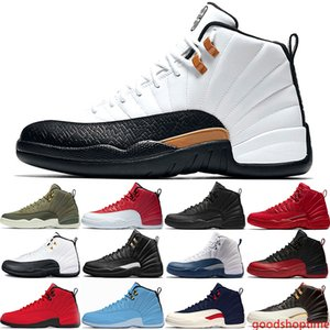 12 12s Mens Basketball Shoes The Master CNY Flu Game Midnight Black Taxi XII Designer Trainers Sport Sneakers Size 41-47 Online Sale