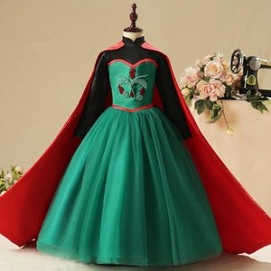 Dondurulmuş Cosplay Elbise Anna Prenses Elbise Çocuk Doğum Hediye Aisha Noel Çocuk Elbise Kostüm
