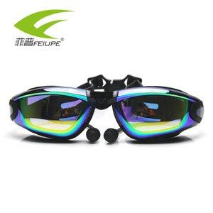 FEIUPE Myopia Óculos De Água receitados Anti-nevoeiro Goggle Diopter Ochelari colorido chapeamento adulto