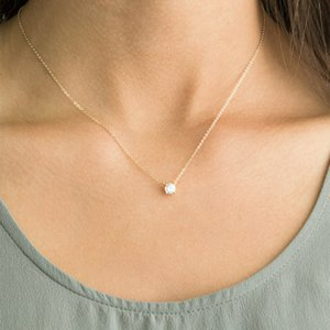 Brillante circón invisible transparente delgada línea simple gargantilla collar de joyería de las mujeres Collana Kolye Bijoux Collares Collier S106
