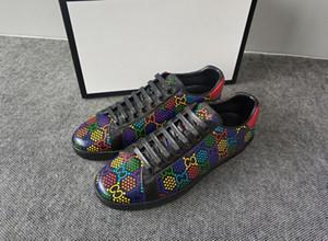 Chaussure off Mens Fashion Designer Casual Shoes Primavera cobre branco de couro preto Mulher Juventude Estudantil Designer Flats Sneakers