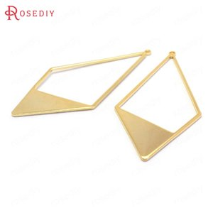 (37067)6PCS 55x27MM 24K Gold Color Brass Long Prismatic Shape Charms Pendants Jewelry Making Supplies Diy Findings Accessories