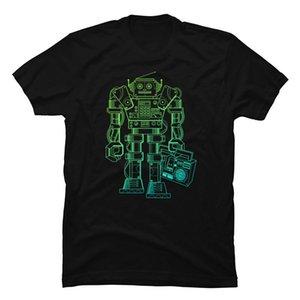 один Йона Music Robot Synthwave T Shirt Steampunk Механика Робот для мужчин чистого хлопка Топы Рубашки OSTERN день Рождества Camiseta