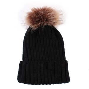 Newborn Hat Cute Baby Boys Girls Winter Keep Warn Cap Kids Baby Hats Knitted Wool Hemming Hat Fit for 0-36 Months Baby &&8