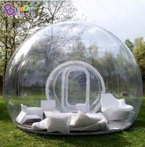 2020 Nova requintados 6x4 metros claras inflável bolha tenda / inflável transparente bolha tendas de campismo brinquedo partido