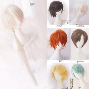 707 Cosplay Mystic Messenger Cosplay Perücken Jumin Unbekannt Jaehee Yoosung Zew Kurz Rot Blond Grün hitzebeständige synthetische Haar