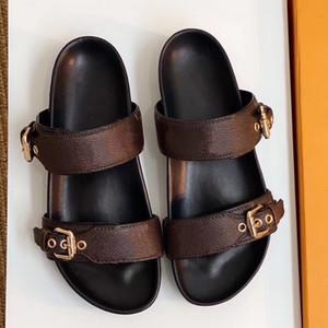 BOM DIA FLAT MULE 1A3R5M fredda Elegante sforzo Slides 2 cinghie con fibbie dorate Adjusted estate delle donne pantofole