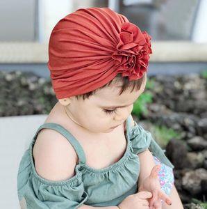 Outono e inverno nova dobra chapéu flor das crianças recém-nascido indiano chapéu do bebê chapéu de algodão WY1391