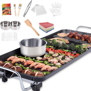 Barbecue Four électrique anti-adhésive Four de cuisson électrique pour rôtir la viande Pot Smokeless Electromécanique cuisson Pan Poêle Barbecue