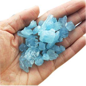 Kristal Ham Taş Doğal Hakiki Ham Mineral Berrak Su Mavi Akuamarin Nugget Serbest Form Gevşek Kaba Mat Faceted