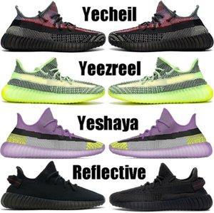 Kanye West Yecheil Yeshaya Black Static Reflective Running Shoes Mens Womens Clay Gid Glow Zebra Cloud White Citrin Designer Sneakers 21