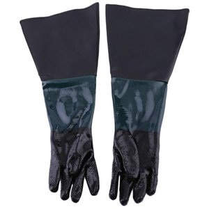 60cm PVC Gloves Soft Comfortable Sandblasting Machine Gloves For Sandblaster Cabinet Anti-slip Labour Protection