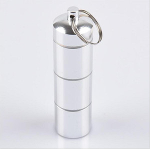 Косплей металлическая подвеска в форме таблетки окно держатель выгодный контейнер чехол с брелок водонепроницаемый шкатулка пробки 4 узла больших малых размеров