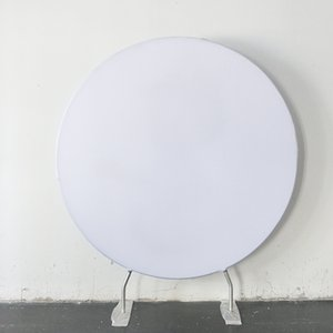 7ft Round Pillow Case Backdrop Custom Single Printing with Frame stand for photography