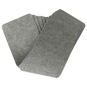 14-Pair Conjunto de escalera rectangular Pedal antideslizante de la alfombra de la escalera estera del cojín de alfombra reutilizable seguridad en el hogar estera del cojín