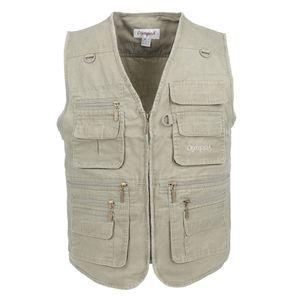 Big Size Fishing Vest Male With Many Pockets Men Sleeveless Jacket Blue Waistcoat Work Vests Outdoors Vest Plus Large Size 7XL