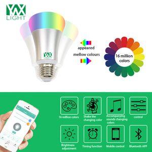1PCS YWXLight Smart Bluetooth E27 RGB Luz LED Música controlada Iluminación colorida AC 110 - 240V