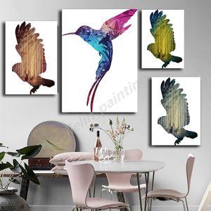 Animal Bird Акварели Nordic печати Масло Минималистский Холст Картина украшения Абстрактные картины Wall Art Poster Home Decor