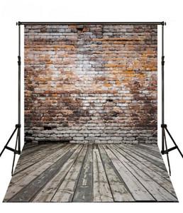 Cenários de Parede de Tijolo do vintage Piso De Madeira Fotografia Cenário 5X7ft Fundo Da Foto Do Vinil para o Tema Decoração Do Partido