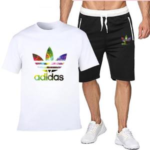 New Summer Mens Trainingsanzug Kurzarm T-Shirt und Shorts lässig Hoodies Sportanzug Sport Set Herren Rundhals Sportswear