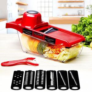 Machine de découpe Trancheuse lame en acier inoxydable machine à découper la pomme de terre carotte éplucheur manuel Machine de découpage cuisine outil multifonction râpe