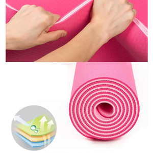Atacado New 1Pc 6 milímetros de espessura Yoga tapete antiderrapante Exercício Pad Saúde perder peso fitness Durable FY6018 Mats